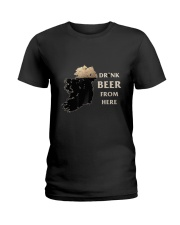 Drink beer from here Ladies T-Shirt thumbnail