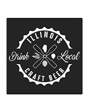 ILLINOIS DRINK LOCAL CRAFT BEER Square Coaster thumbnail