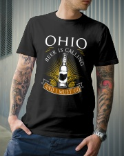 OHIO BEER IS CALLING AND I MUST GO Classic T-Shirt lifestyle-mens-crewneck-front-6
