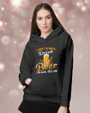 I dont always drink Hooded Sweatshirt lifestyle-holiday-hoodie-front-1