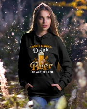I dont always drink Hooded Sweatshirt lifestyle-holiday-hoodie-front-5