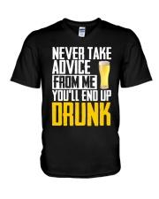 You'll End Up Drunk V-Neck T-Shirt thumbnail