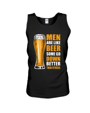 MEN ARE LIKE BEER SOME GO DOWN BETTER THAN OTHERS Unisex Tank thumbnail