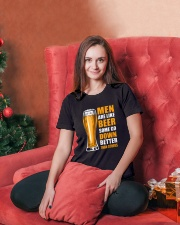 MEN ARE LIKE BEER SOME GO DOWN BETTER THAN OTHERS Ladies T-Shirt lifestyle-holiday-womenscrewneck-front-2