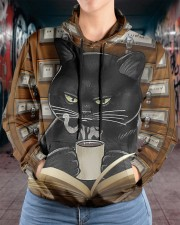Librarian Cat Women's All Over Print Hoodie aos-complex-women-hoodie-lifestyle-front-17