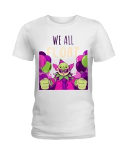 WE ALL FLOAT - CIRCUS CLOWN SCARY  Ladies T-Shirt thumbnail
