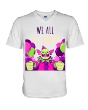 WE ALL FLOAT - CIRCUS CLOWN SCARY  V-Neck T-Shirt thumbnail