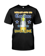 When LIFE gives you CORONA use a LIME Classic T-Shirt tile