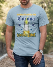 When LIFE gives you CORONA use a LIME Classic T-Shirt apparel-classic-tshirt-lifestyle-front-53