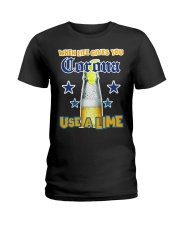 When LIFE gives you CORONA use a LIME Ladies T-Shirt thumbnail