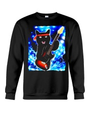 Cat Guitar Shirt Rock Band Tshirts Epic Solo Conce Crewneck Sweatshirt thumbnail