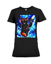 Cat Guitar Shirt Rock Band Tshirts Epic Solo Conce Premium Fit Ladies Tee thumbnail