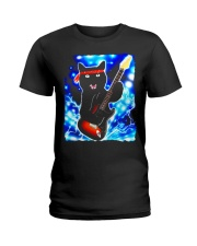 Cat Guitar Shirt Rock Band Tshirts Epic Solo Conce Ladies T-Shirt thumbnail