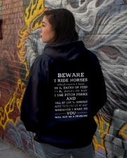 BEWARE I RIDE HORSES - 1 DAY LEFT Hooded Sweatshirt lifestyle-unisex-hoodie-back-1