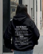 BEWARE I RIDE HORSES - 1 DAY LEFT Hooded Sweatshirt lifestyle-unisex-hoodie-back-2