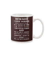 BEWARE I RIDE HORSES - 1 DAY LEFT Mug thumbnail