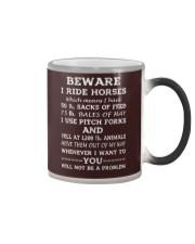 BEWARE I RIDE HORSES - 1 DAY LEFT Color Changing Mug thumbnail