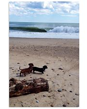 Dachshunds at the beach 16x24 Poster front