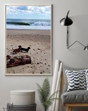 Dachshunds at the beach 16x24 Poster lifestyle-poster-1