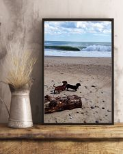Dachshunds at the beach 16x24 Poster lifestyle-poster-3