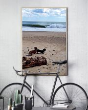 Dachshunds at the beach 16x24 Poster lifestyle-poster-7