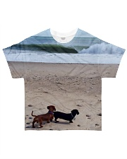 Dachshunds at the beach All-over T-Shirt thumbnail