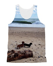 Dachshunds at the beach All-over Unisex Tank thumbnail