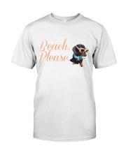 Beach Dachshund Wear Classic T-Shirt thumbnail