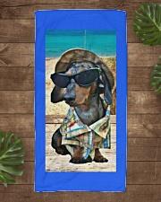 Beachin' it with Hank Beach Towel aos-towelbeach-vertical-front-lifestyle-1