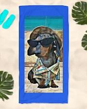 Beachin' it with Hank Beach Towel aos-towelbeach-vertical-front-lifestyle-2