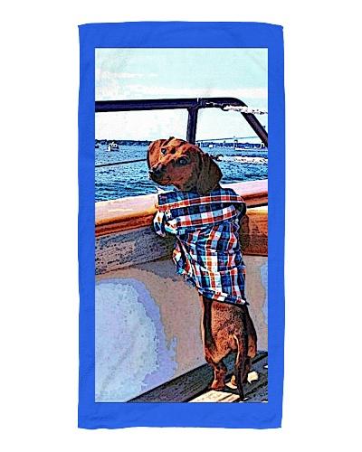 Sail Away With Me- Dachshund Beach towel