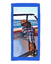 Sail Away With Me- Dachshund Beach towel Beach Towel front