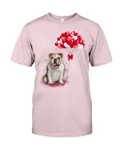 Bulldog Paws Heart Balloon shirt
