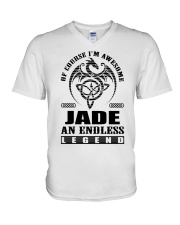 JADE-awesome legend Shirt V-Neck T-Shirt thumbnail