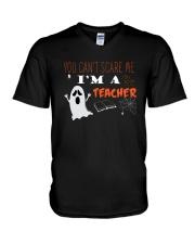You Cant Scare Me Im A Teacher T-shirt V-Neck T-Shirt thumbnail