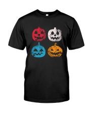 Pumpkin Icon Halloween Funny T-Shirt Classic T-Shirt front