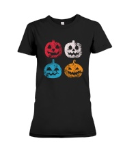 Pumpkin Icon Halloween Funny T-Shirt Premium Fit Ladies Tee thumbnail