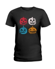 Pumpkin Icon Halloween Funny T-Shirt Ladies T-Shirt thumbnail