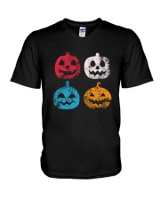 Pumpkin Icon Halloween Funny T-Shirt V-Neck T-Shirt thumbnail