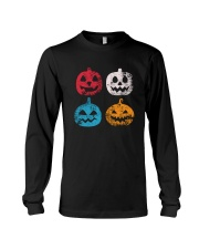 Pumpkin Icon Halloween Funny T-Shirt Long Sleeve Tee thumbnail