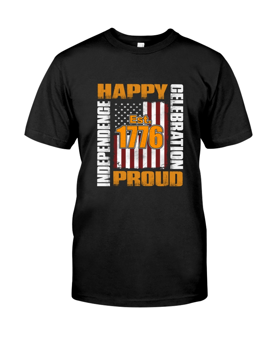 Happy Est 1776 Proud T-shirt Classic T-Shirt