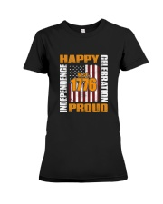Happy Est 1776 Proud T-shirt Premium Fit Ladies Tee thumbnail