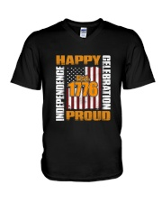 Happy Est 1776 Proud T-shirt V-Neck T-Shirt thumbnail