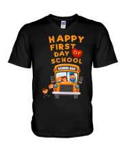 Happy First Day Of School Bus TShirt V-Neck T-Shirt thumbnail