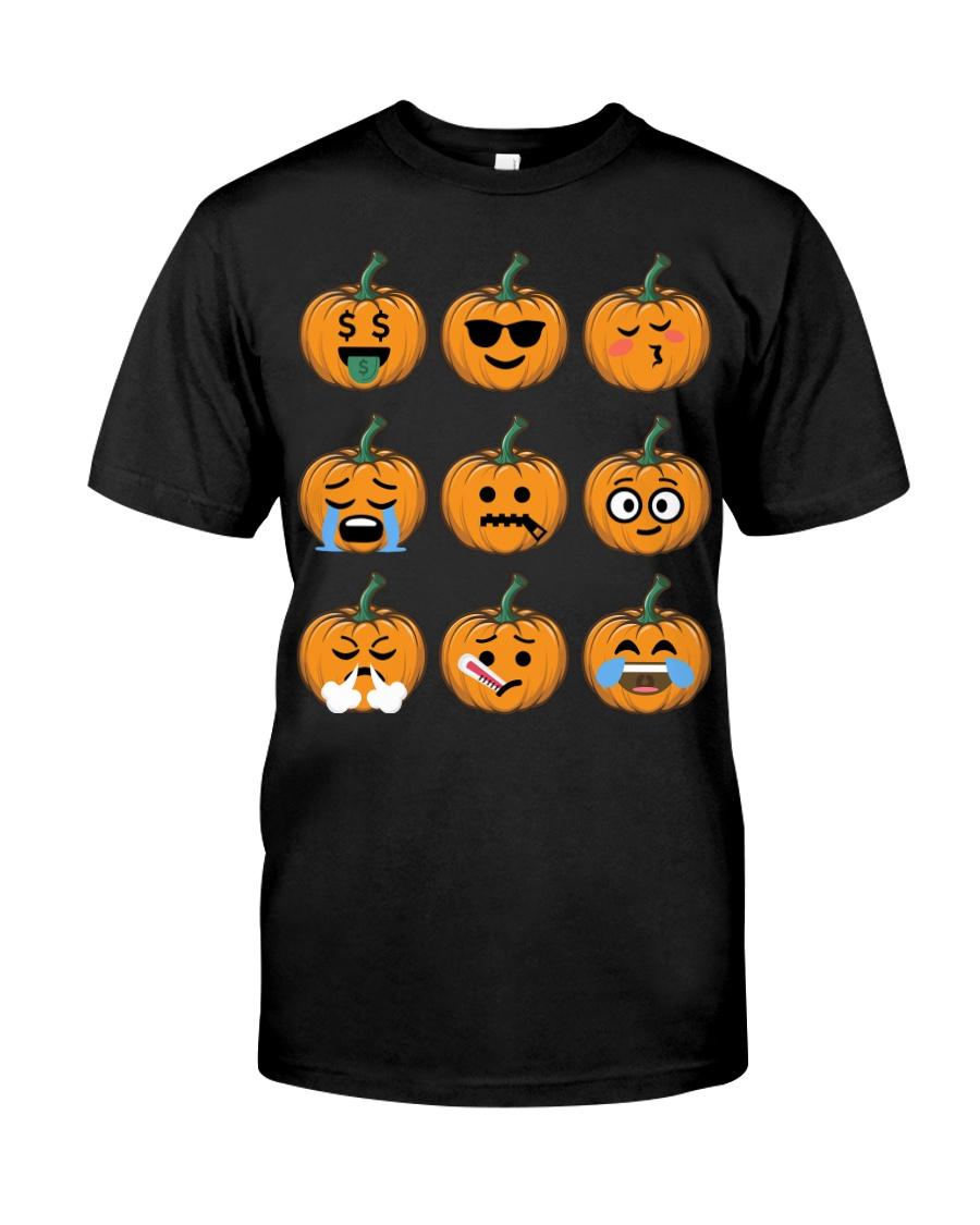Nice Face Of Pumpkin Emoji TShirt Classic T-Shirt