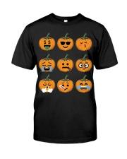 Nice Face Of Pumpkin Emoji TShirt Classic T-Shirt front