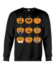 Nice Face Of Pumpkin Emoji TShirt Crewneck Sweatshirt thumbnail