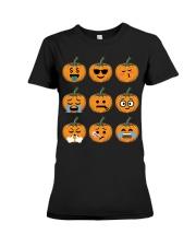 Nice Face Of Pumpkin Emoji TShirt Premium Fit Ladies Tee thumbnail