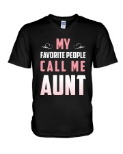 My favorite people call me Aunt t-shirt V-Neck T-Shirt thumbnail