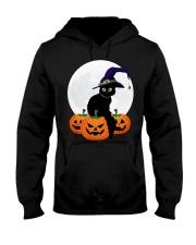 Cute Black Cat Halloween Pumpkin TShirt Hooded Sweatshirt thumbnail